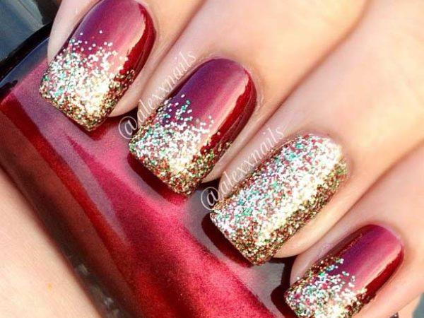 30 простых новогодних дизайнов ногтей