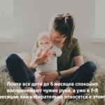 Мама и малыш — общение без слов.