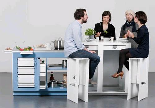 Как расставить мебель в офисной кухне