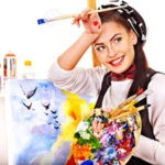 Работа на дому — художник