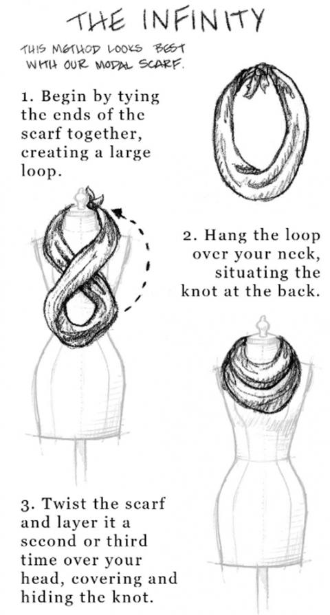 Шарфы, палантины и платки. Как завязывать?