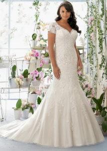 Выбор свадебного платья для полной девушки