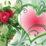 Валентинка в зеленых тонах