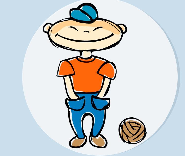 Анекдот дня «Маленький хитрец с мячом»