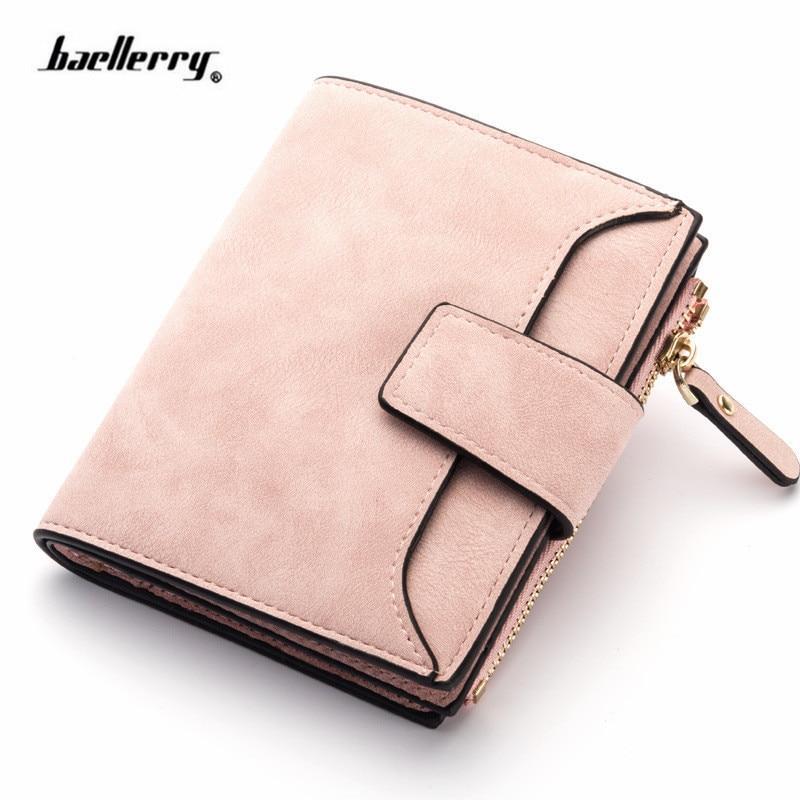 2019 кожаный женский бумажник на застежке