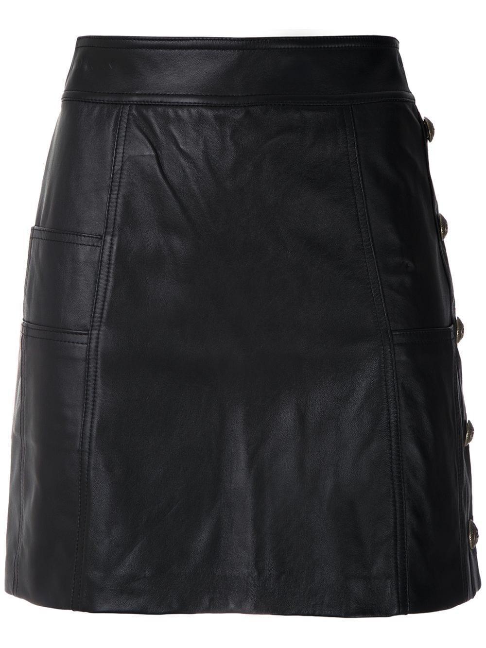 Andrea Bogosian Paulyne leather skirt