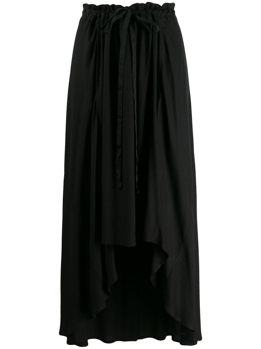 Ann Demeulemeester креповая юбка с асимметричным подолом