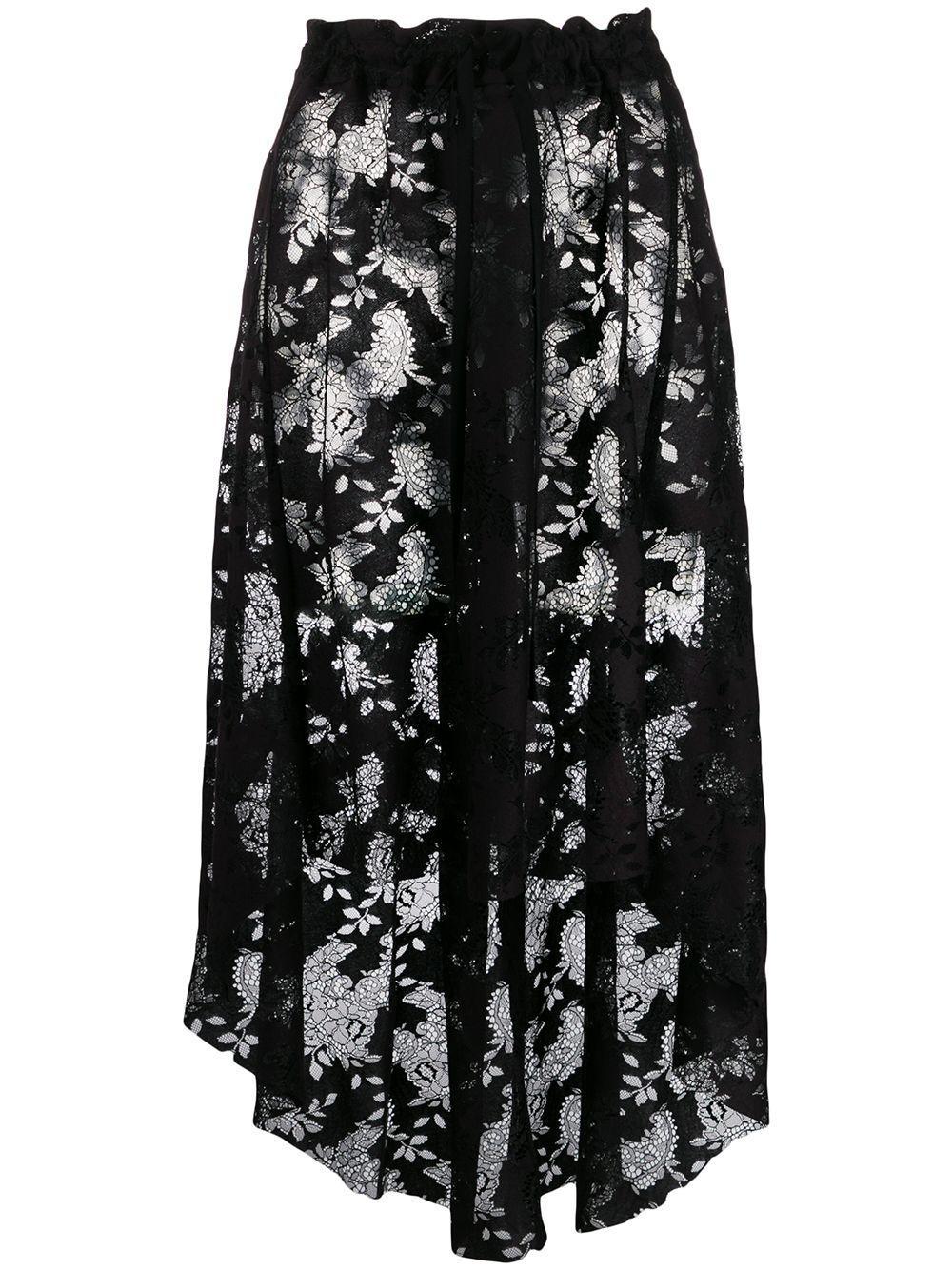 Ann Demeulemeester юбка асимметричного кроя с кружевом