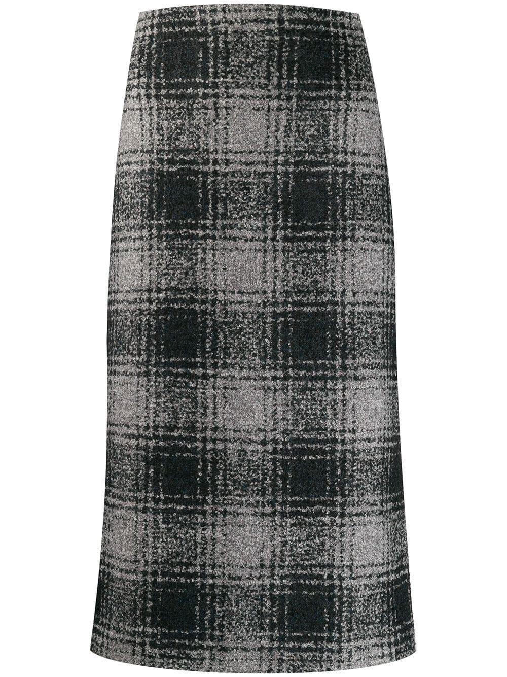 Antonelli клетчатая юбка-карандаш
