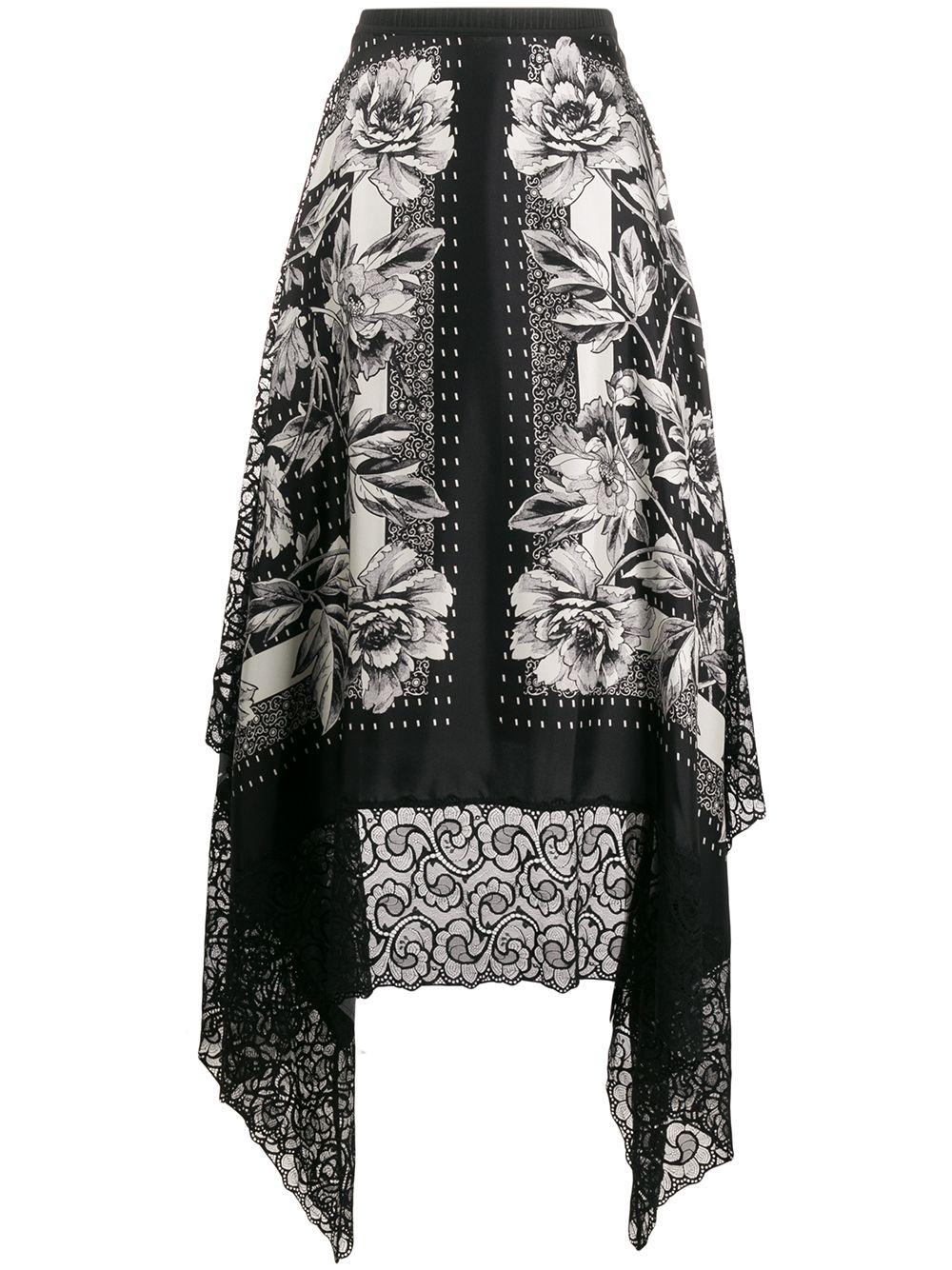 Antonio Marras floral print silk skirt