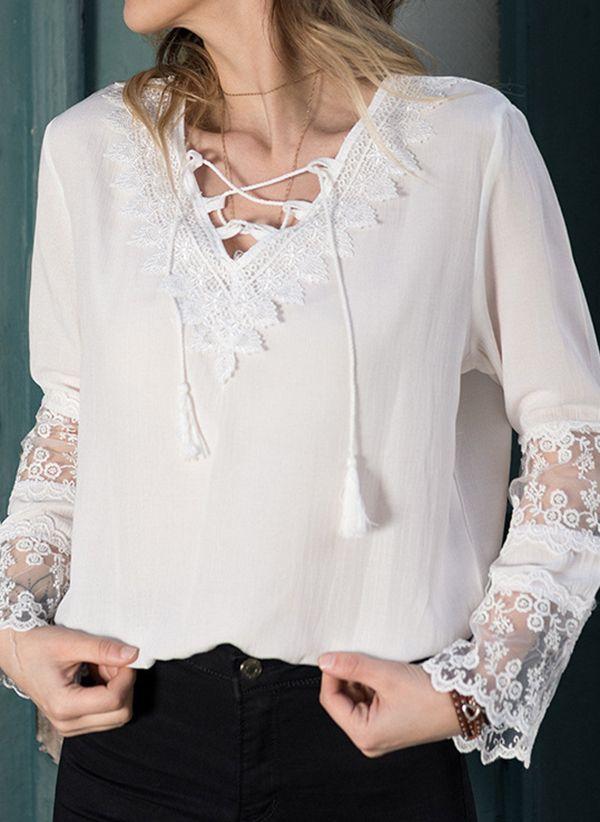 Белая блузка 1400494