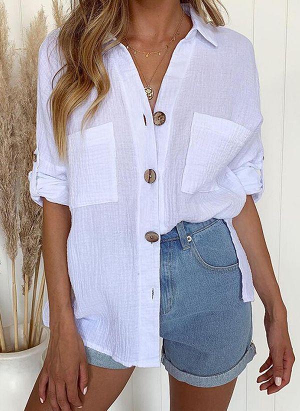 Белая блузка 1401254