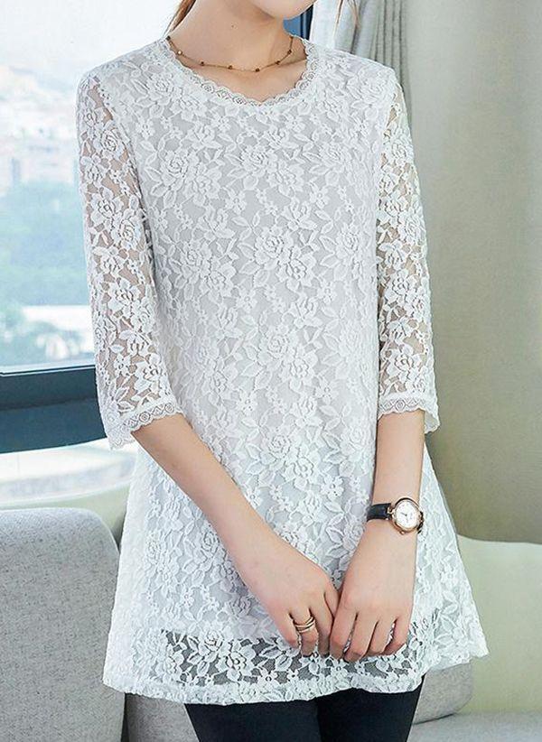 Белая блузка 1401612