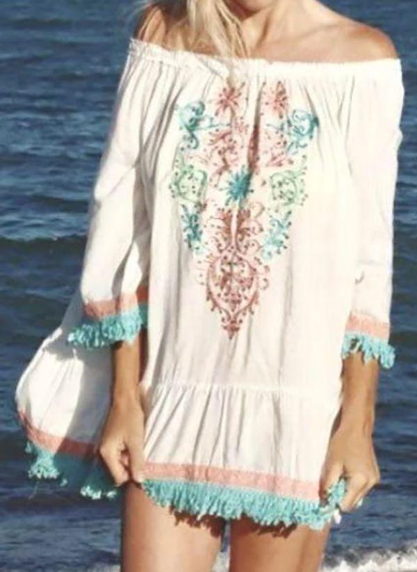 Белая блузка 1425278