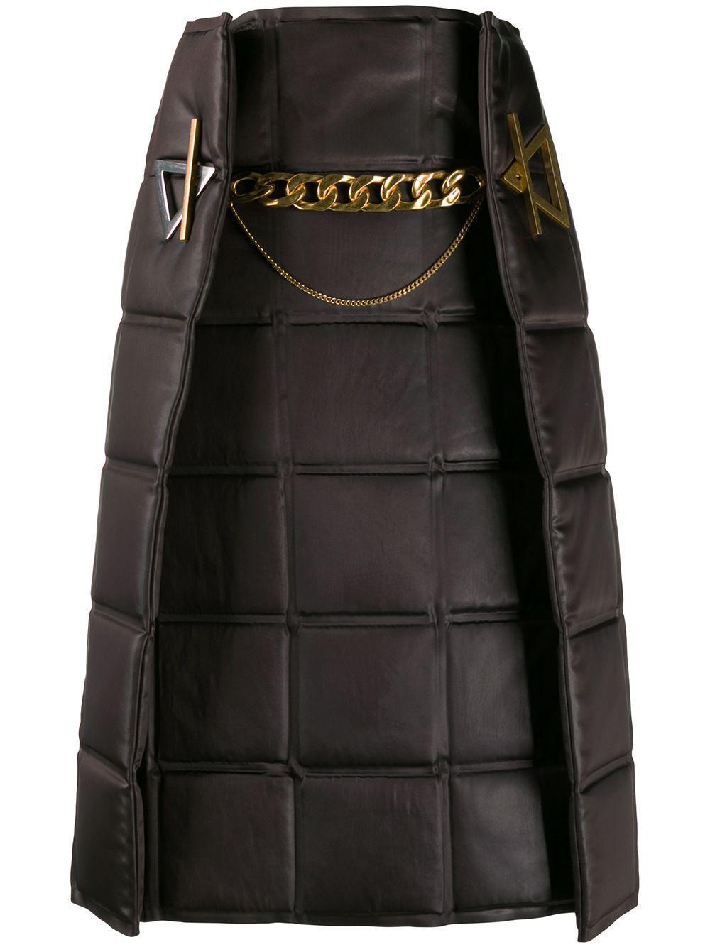 Bottega Veneta стеганая ярусная юбка