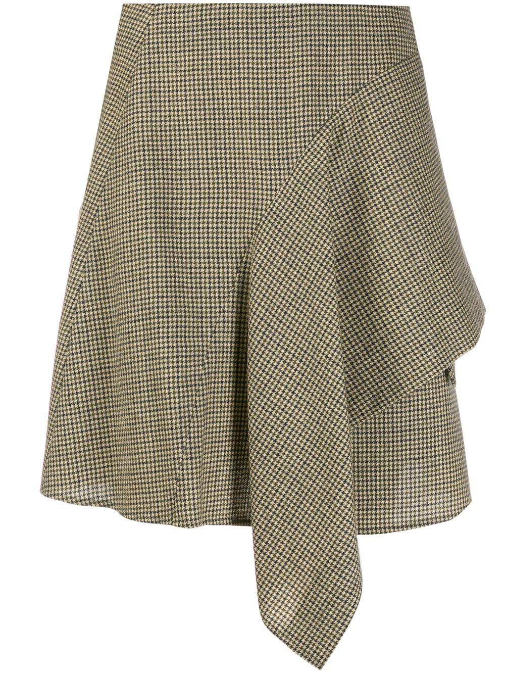 Chloé юбка в ломаную клетку с драпировкой