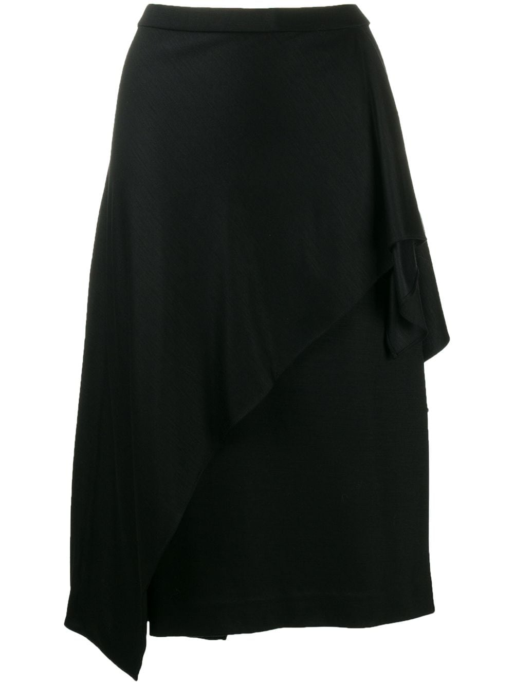 Diane von Furstenberg asymmetric drape midi skirt