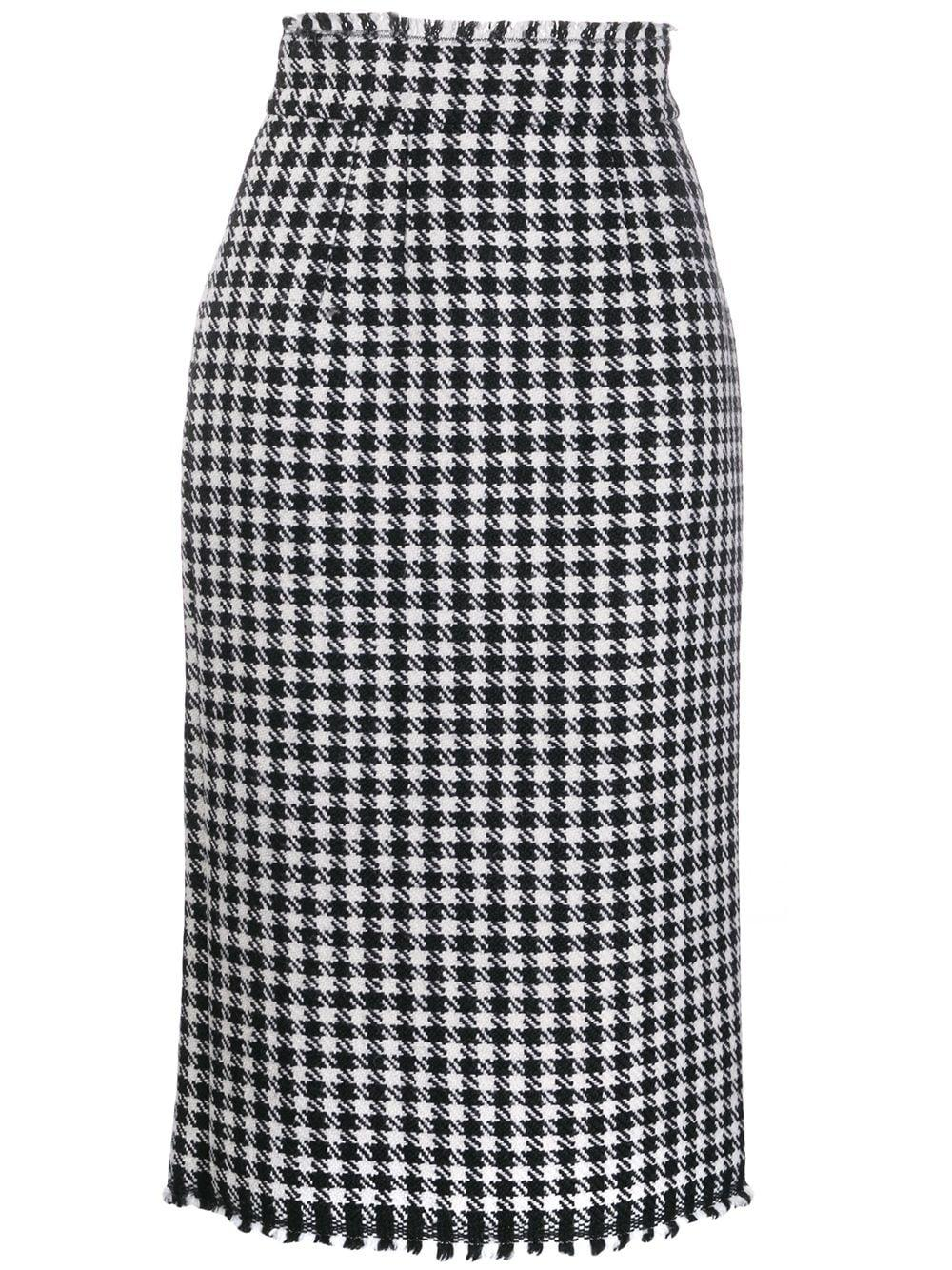 Dolce & Gabbana юбка мини в ломаную клетку