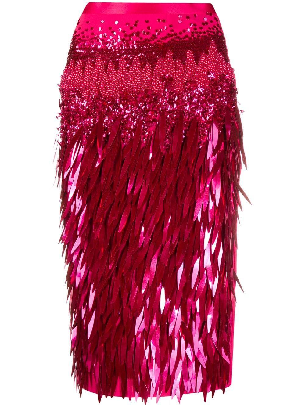 Elisabetta Franchi юбка-карандаш с бахромой