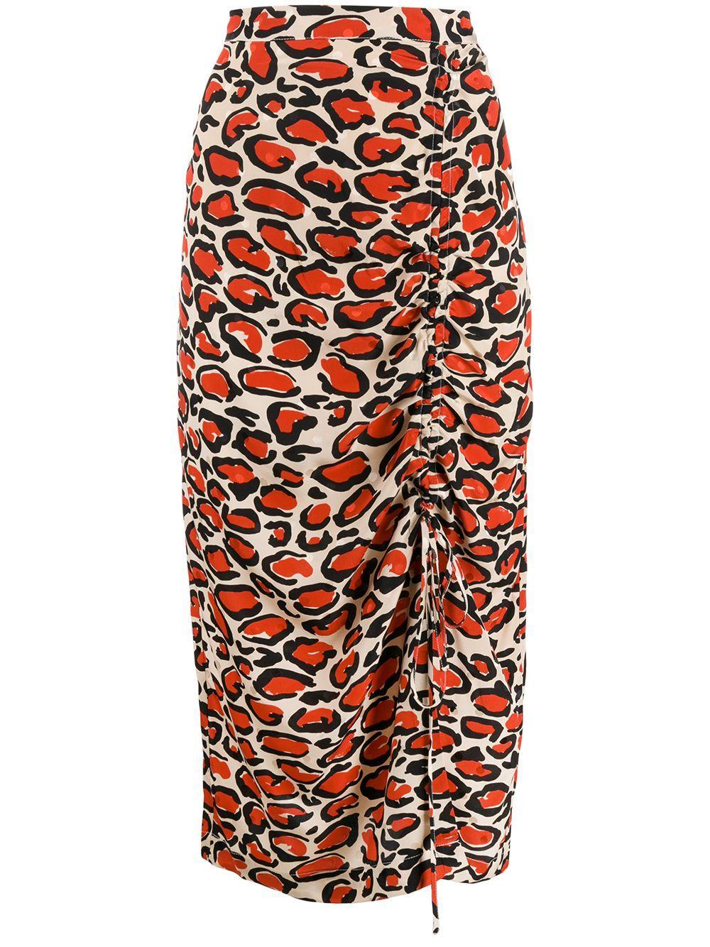 Essentiel Antwerp юбка-карандаш с леопардовым принтом