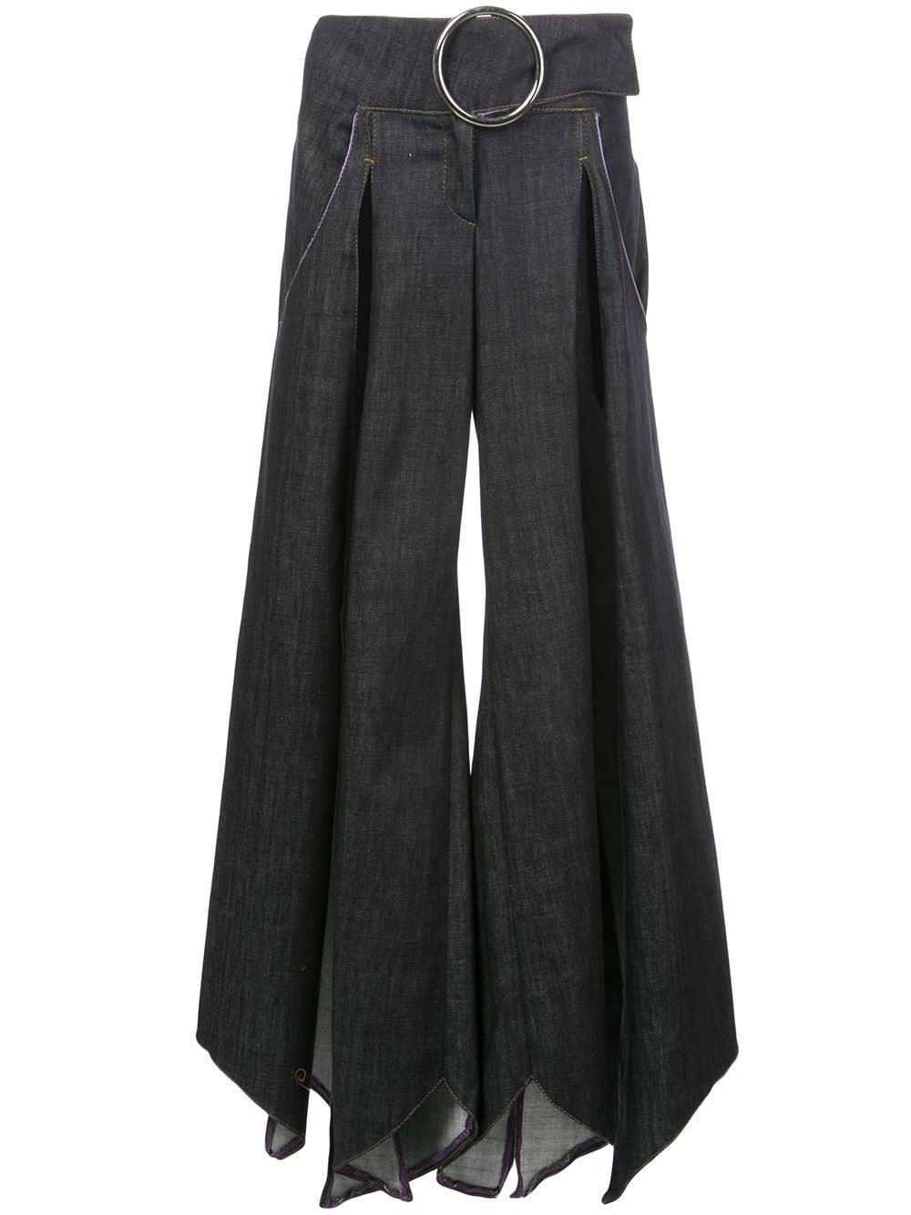 Fantabody multiple slit denim skirt