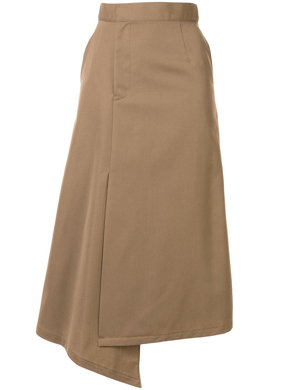 G.V.G.V. габардиновая юбка миди асимметричного кроя