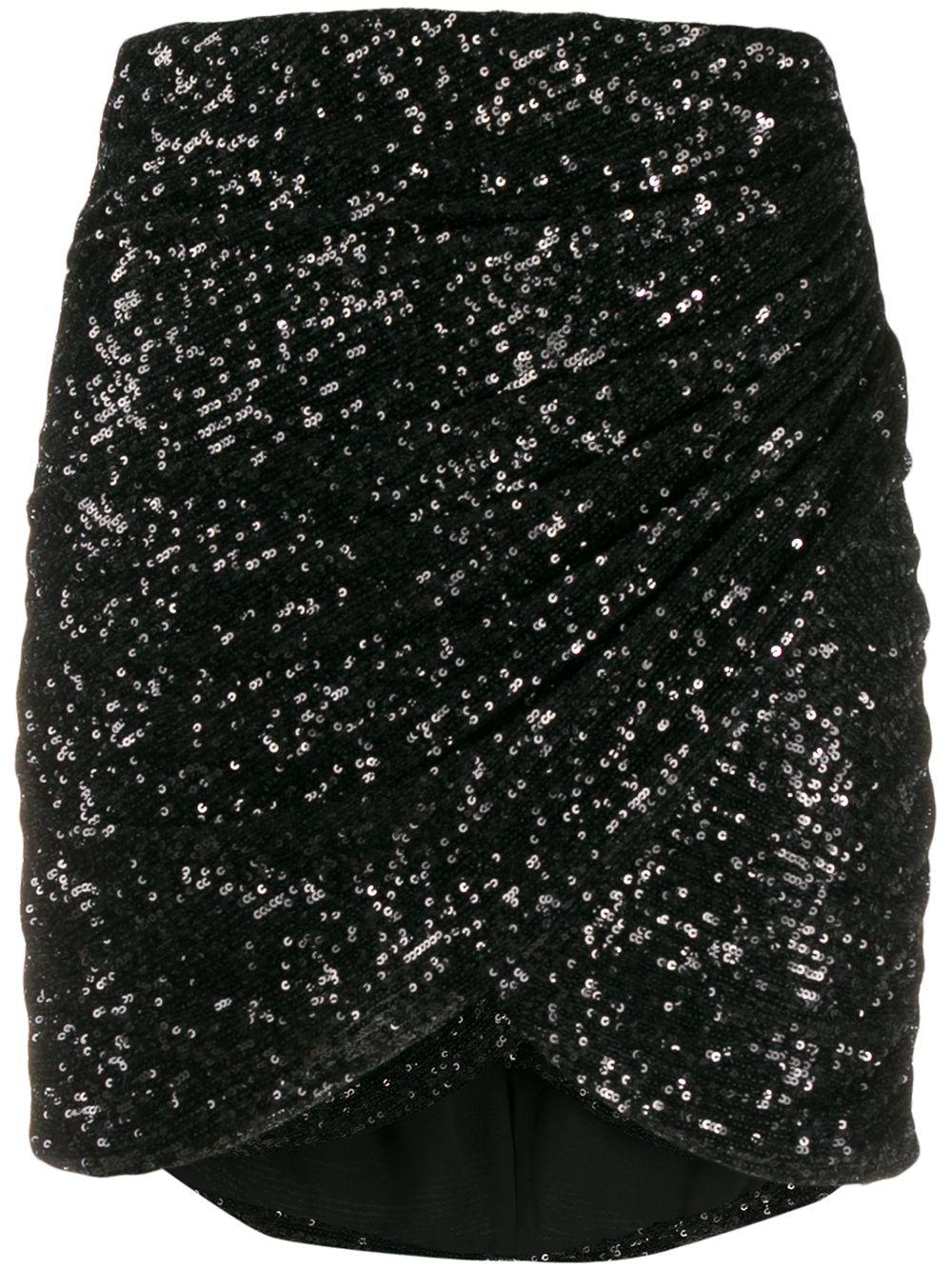 Giamba юбка с запахом и пайетками