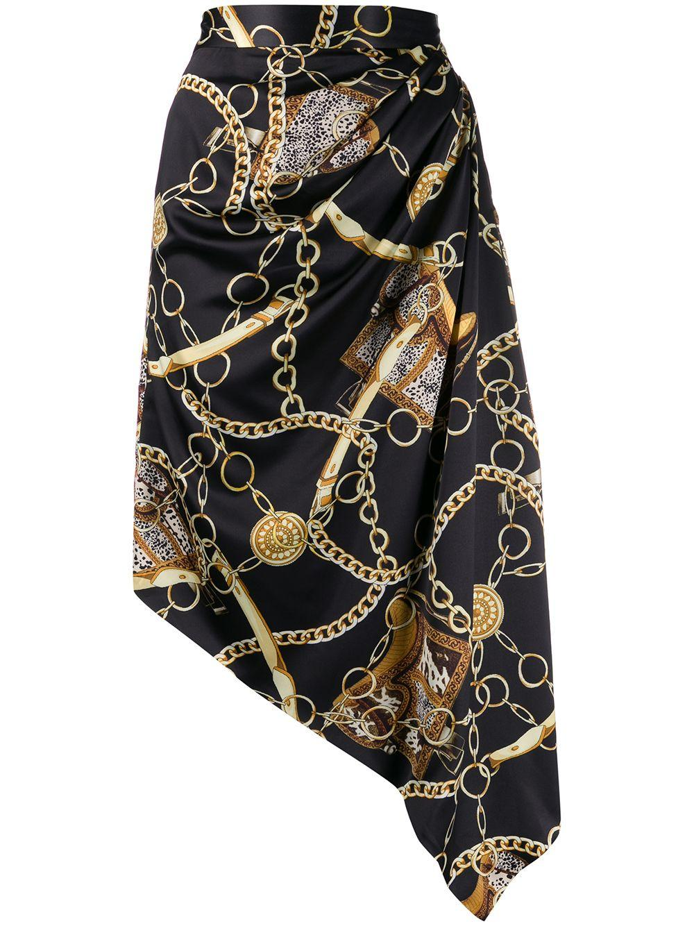 Giuseppe Di Morabito chain print asymmetric skirt