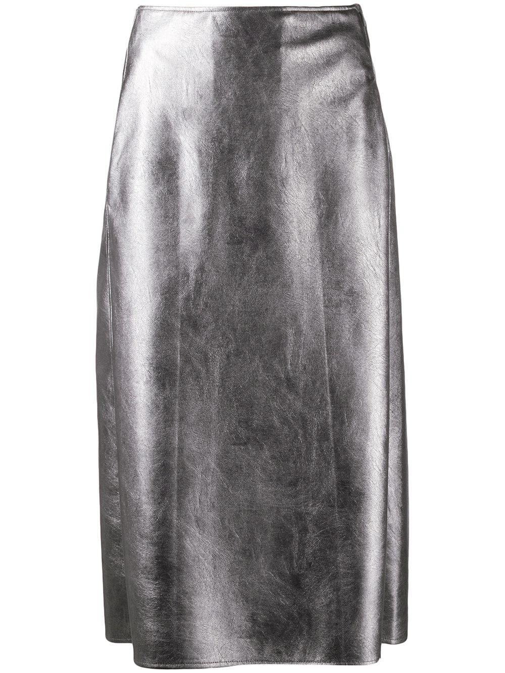 Incotex faux leather pencil skirt