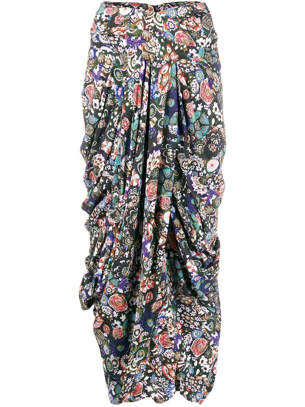 Isabel Marant юбка с запахом и принтом