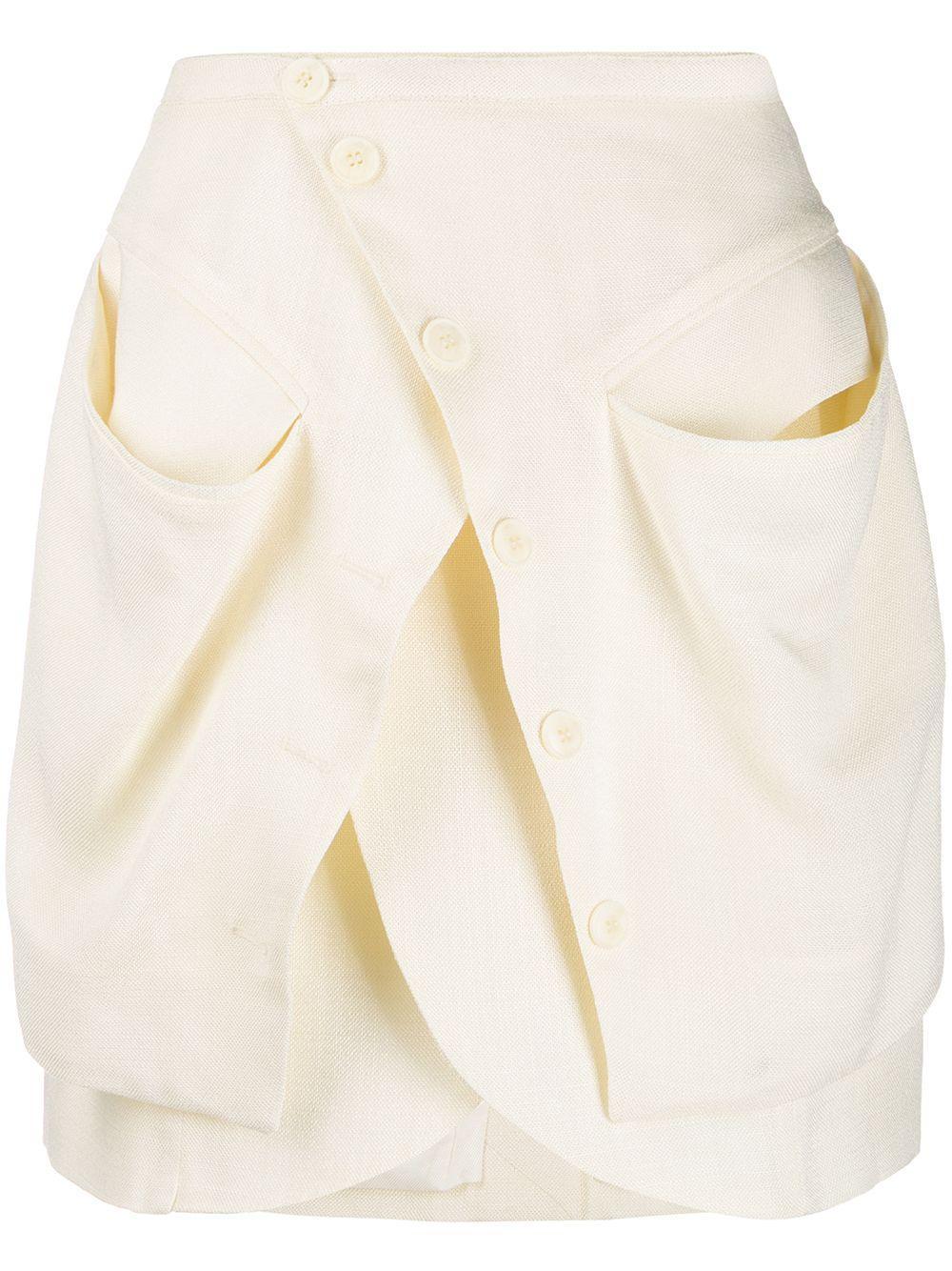 Jacquemus юбка мини асимметричного кроя