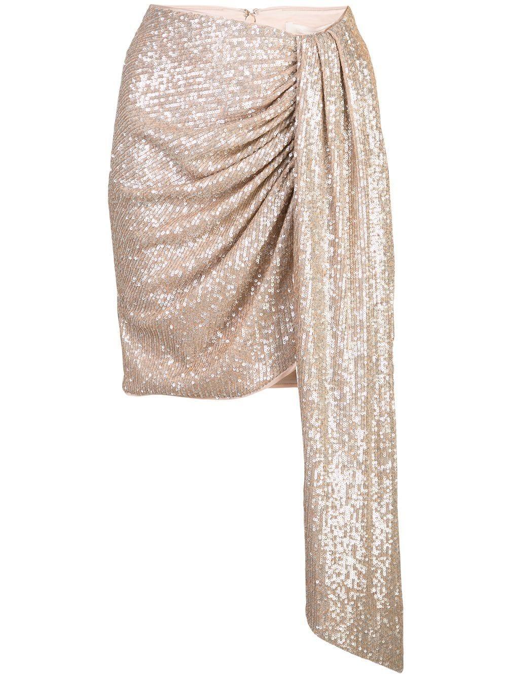 Jonathan Simkhai платье с пайетками и драпировкой