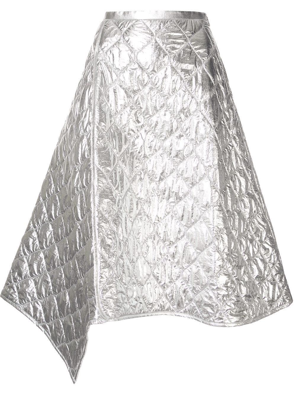 Juun.J юбка асимметричного кроя со вставками