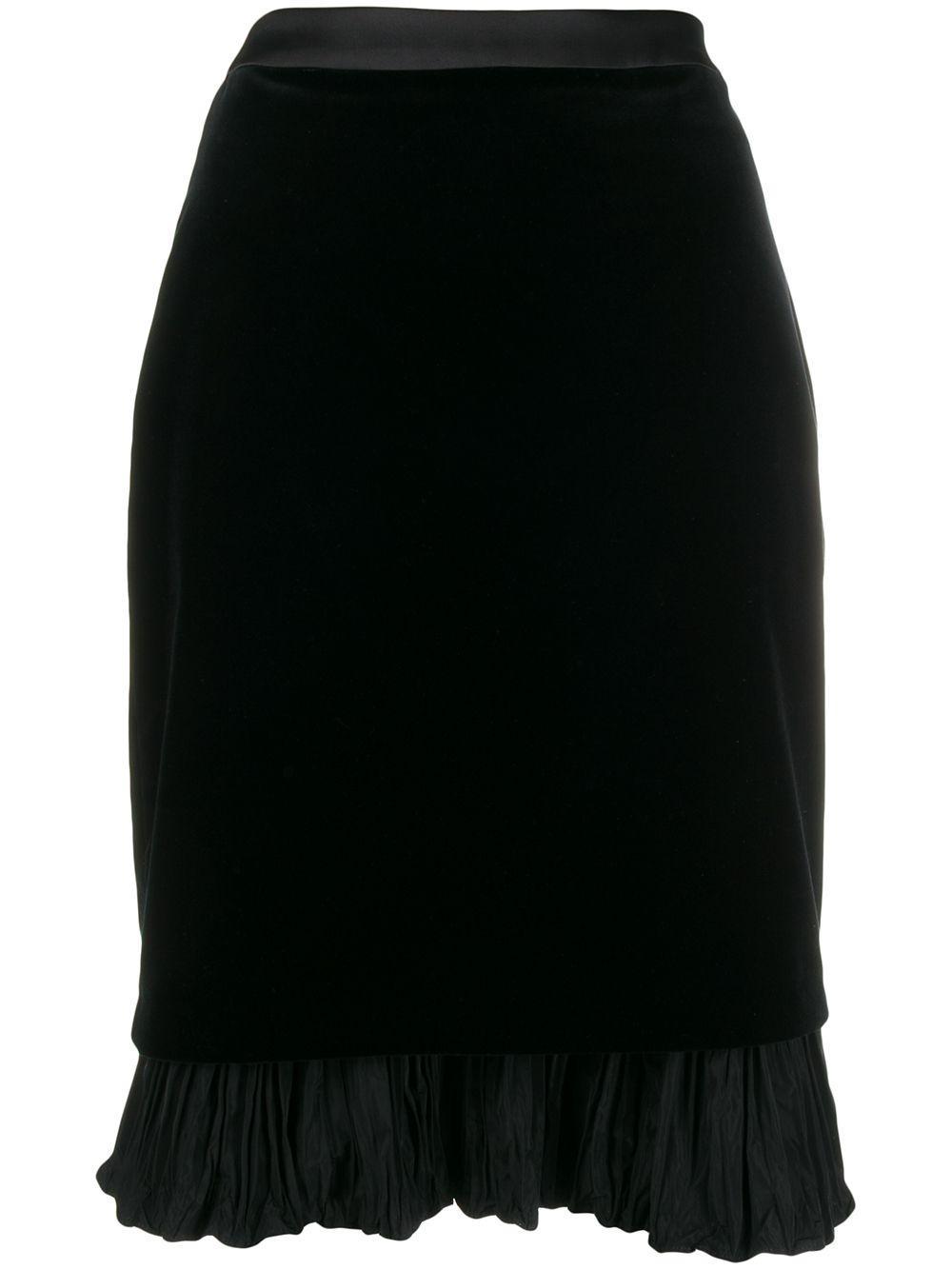 Karl Lagerfeld бархатная юбка Karl из коллаборации с Carine