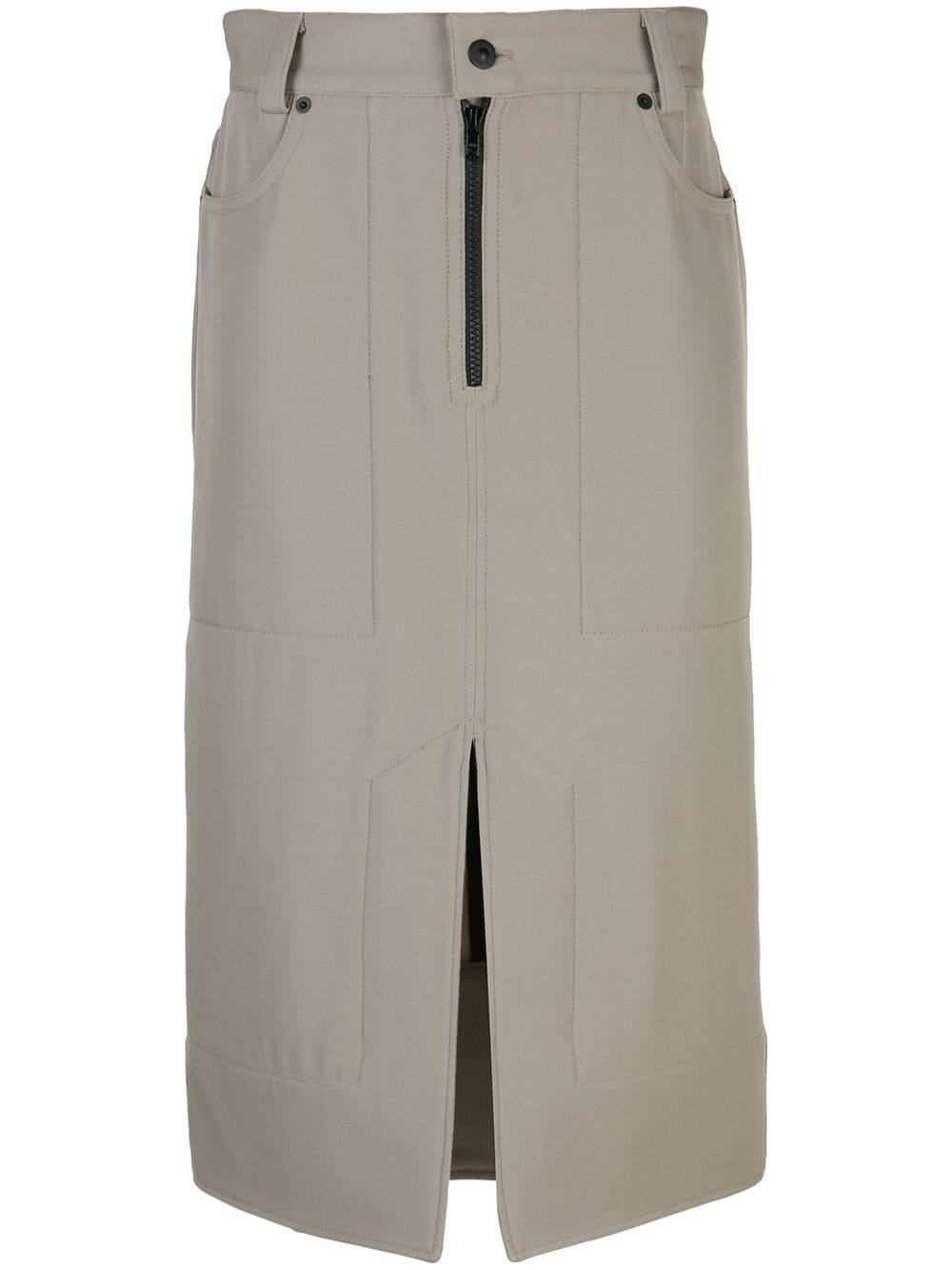 Kwaidan Editions юбка-карандаш с накладными карманами
