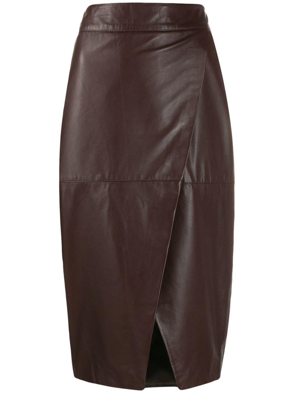 L'Autre Chose юбка-карандаш с запахом