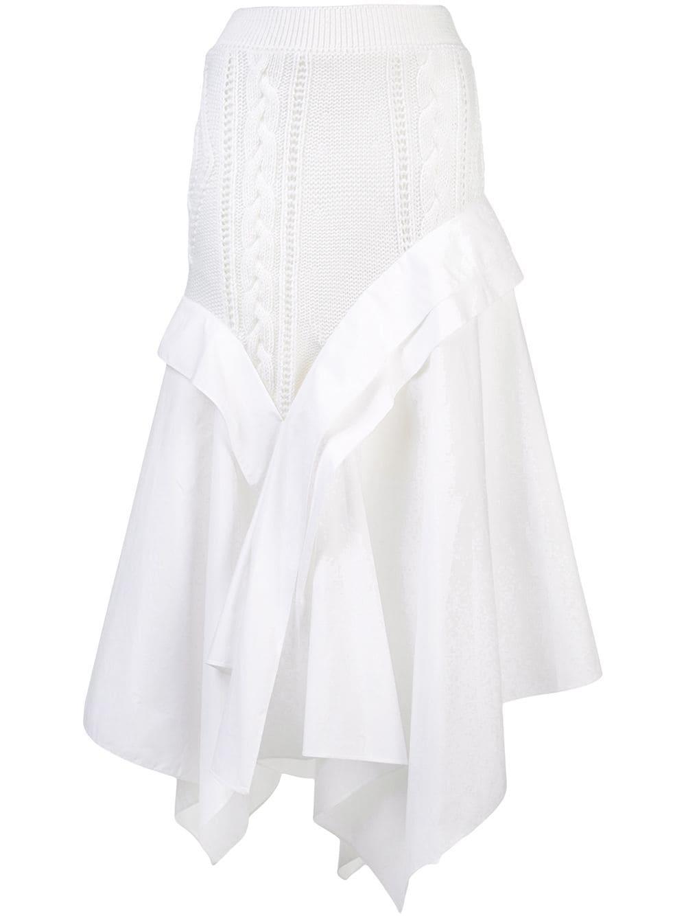 Loewe юбка асимметричного кроя