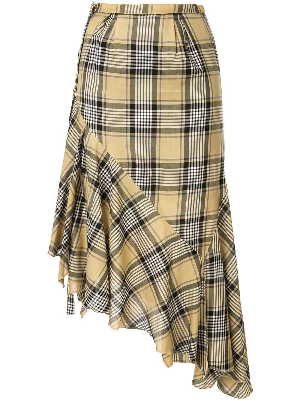 Maison Mihara Yasuhiro юбка в клетку с запахом