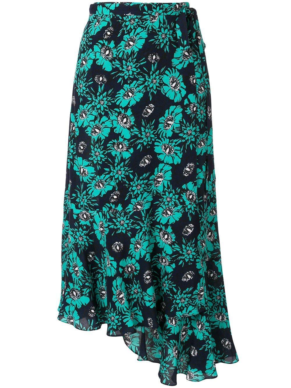 Markus Lupfer юбка миди асимметричного кроя с цветочным принтом