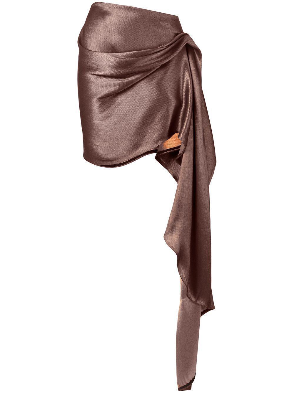 Maticevski юбка асимметричного кроя с драпировкой