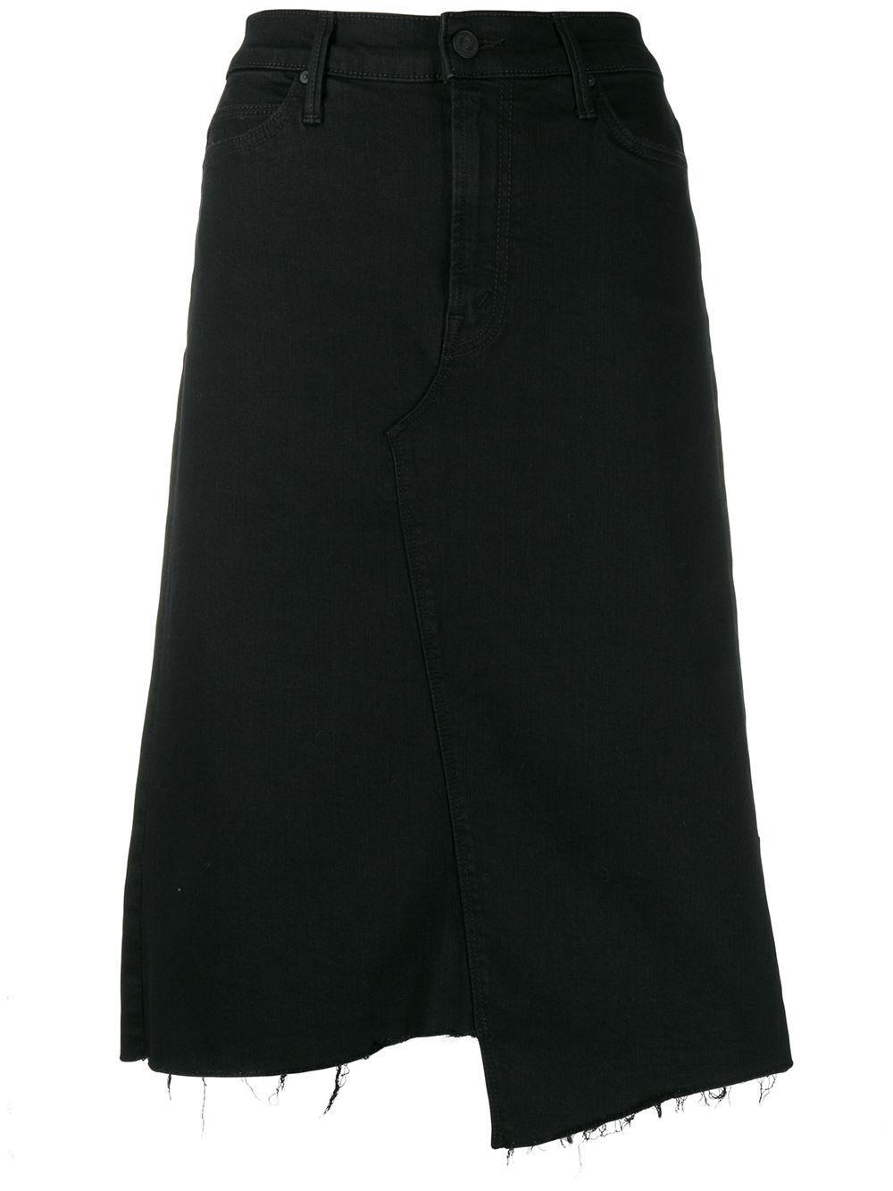 Mother джинсовая юбка асимметричного кроя