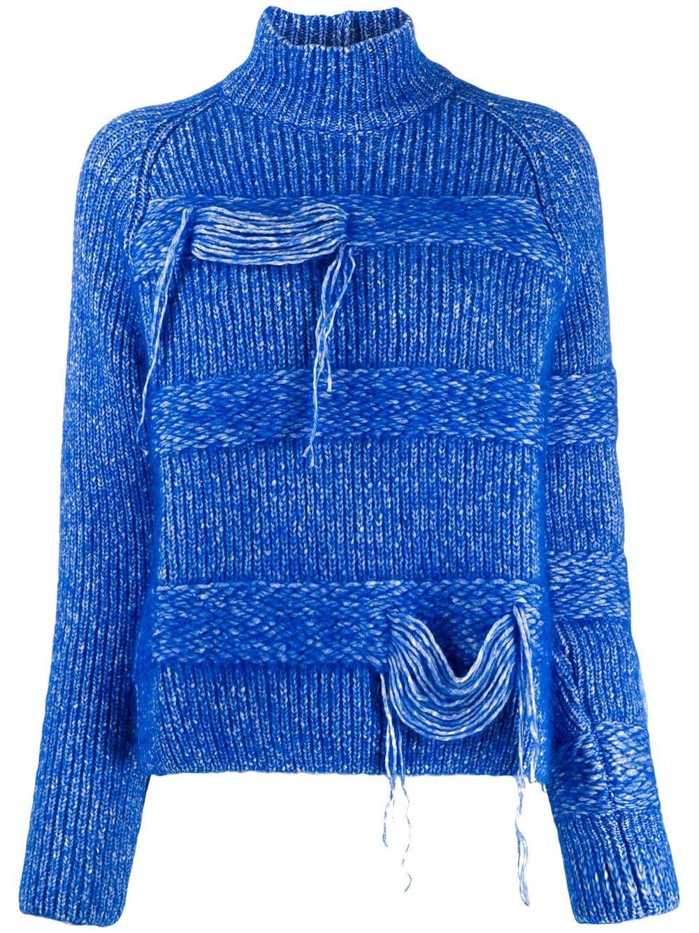 MRZ speckled knit turtleneck jumper