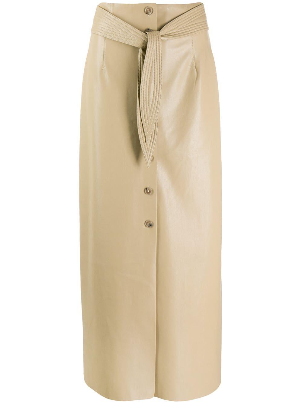 Nanushka юбка-карандаш с поясом