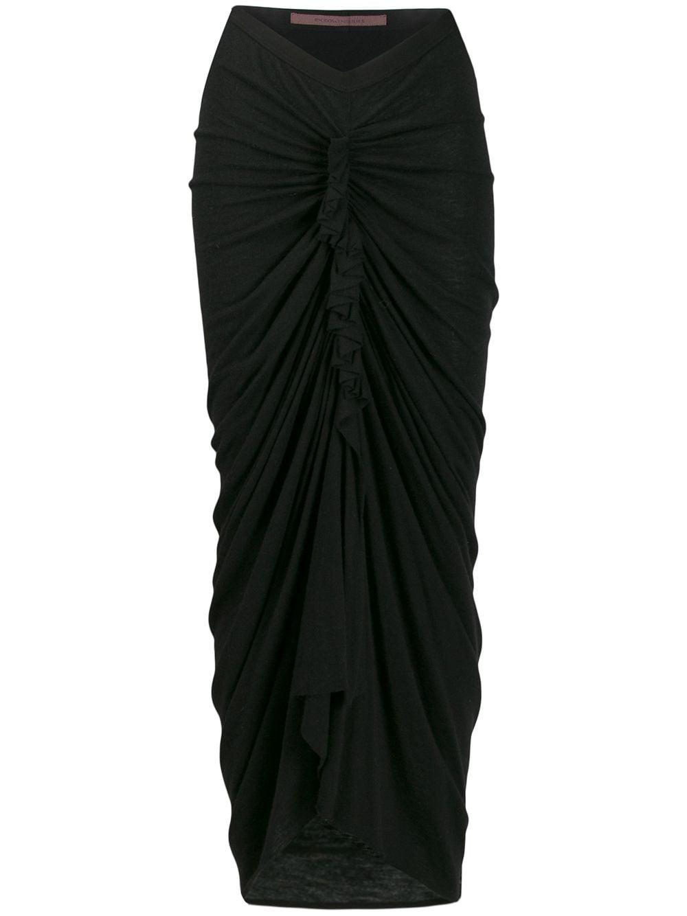 Rick Owens Lilies юбка со сборками и драпировкой