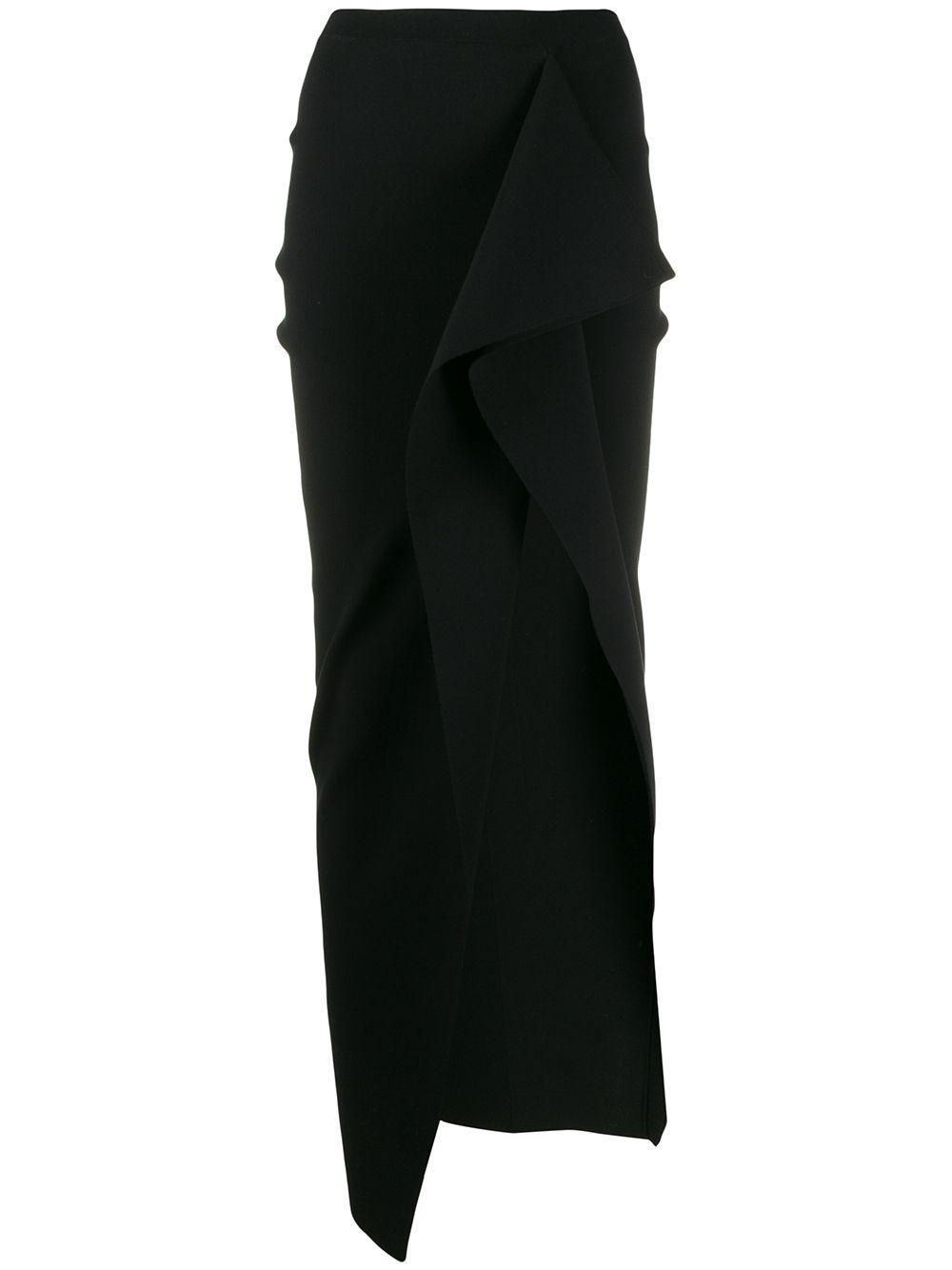 Rick Owens юбка асимметричного кроя с разрезом