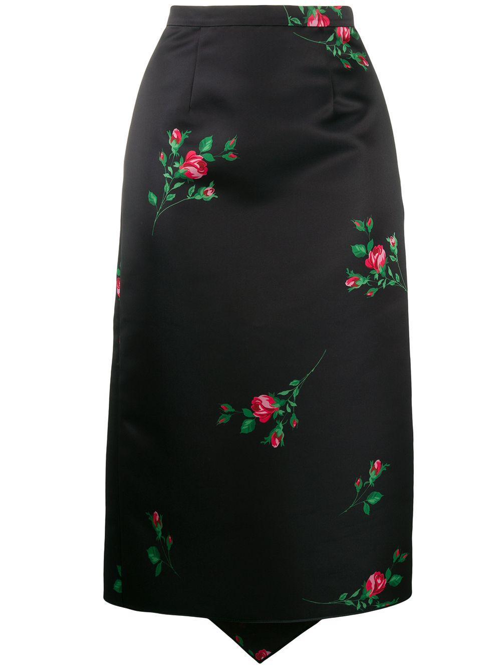 Rochas юбка-карандаш с принтом