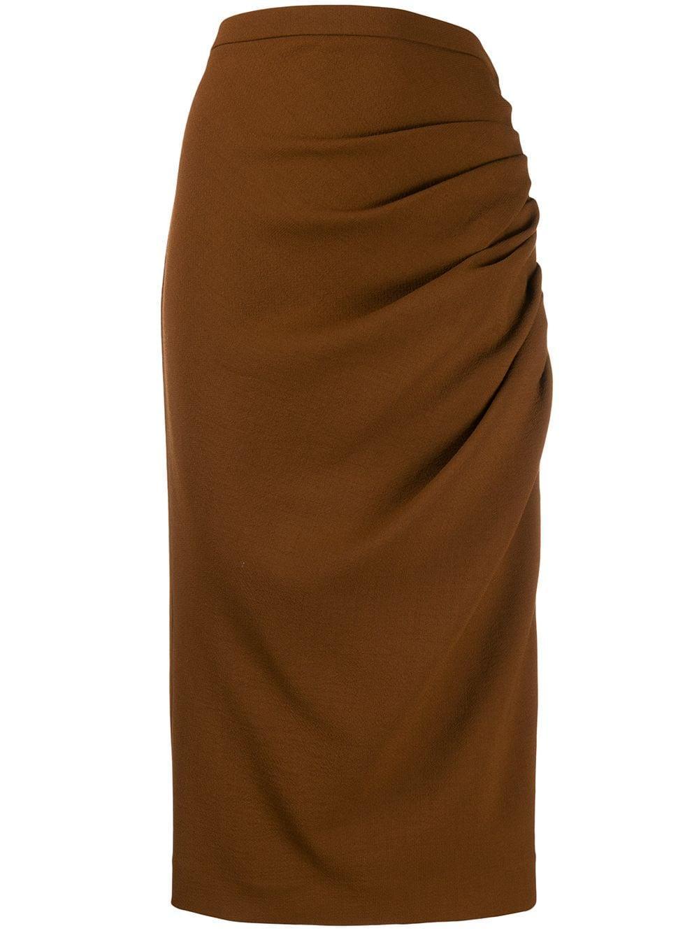 Rochas юбка миди со сборками