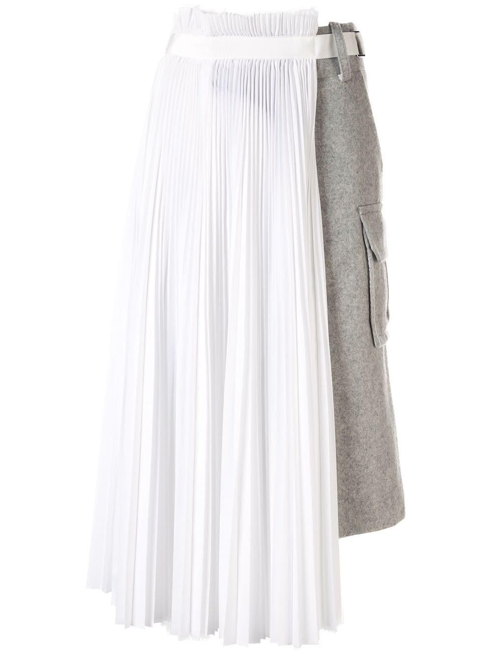 Sacai двухслойная юбка