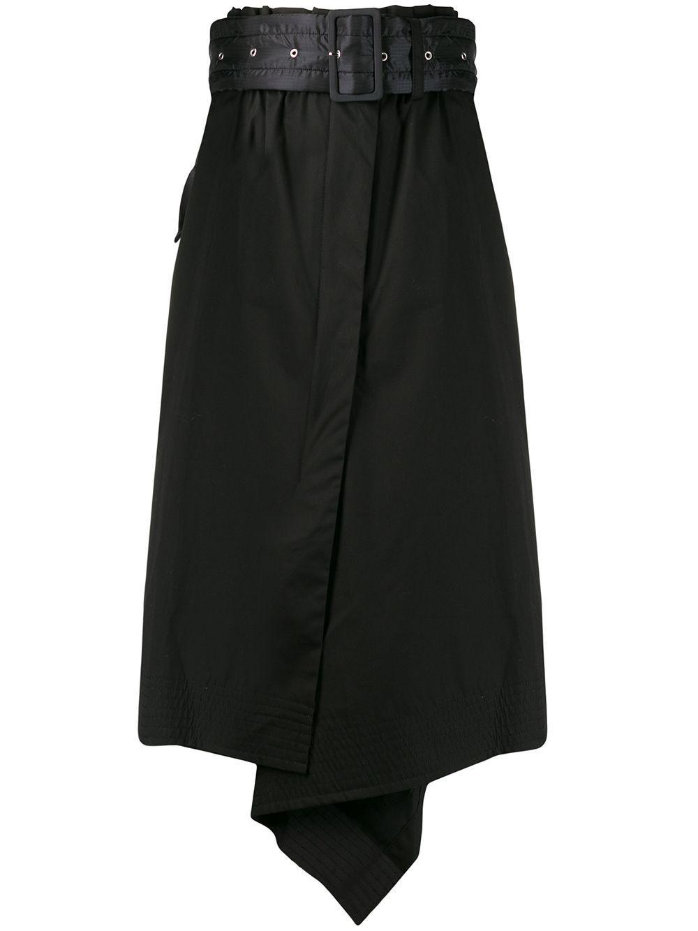 Sacai юбка асимметричного кроя с поясом