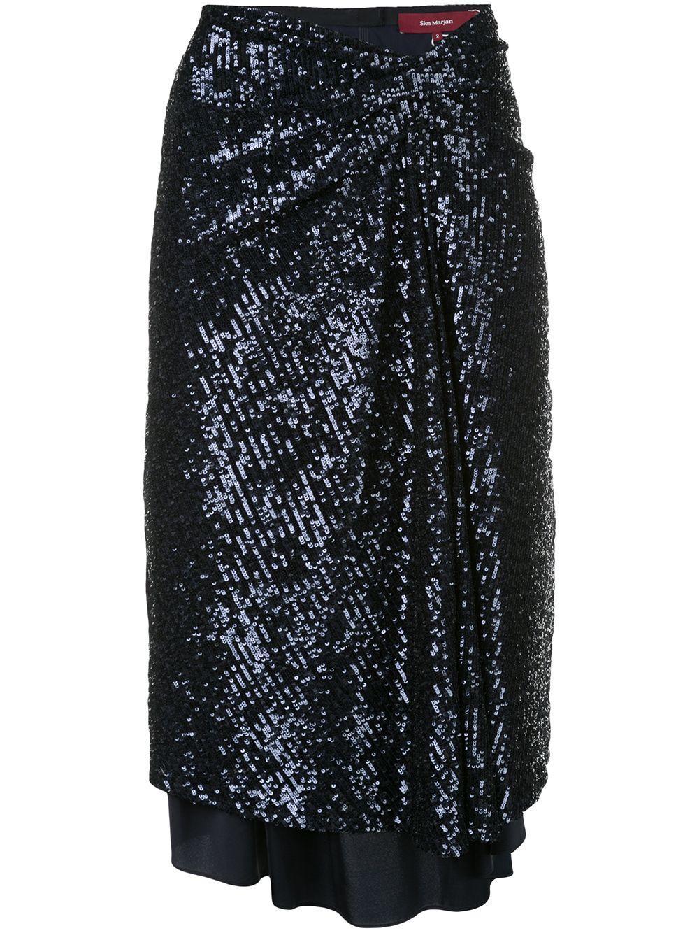 Sies Marjan sequin wrap-front skirt
